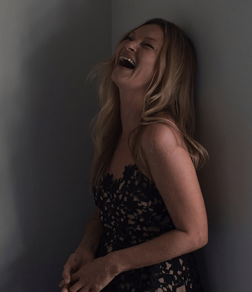 Kate Moss, 47, in a black blazer mini dress for new radiant campaign 4