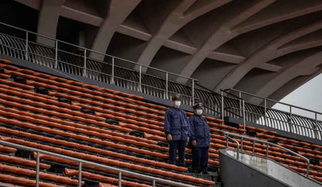 Flacăra olimpică a ajuns la Tokyo-Stadionul gol
