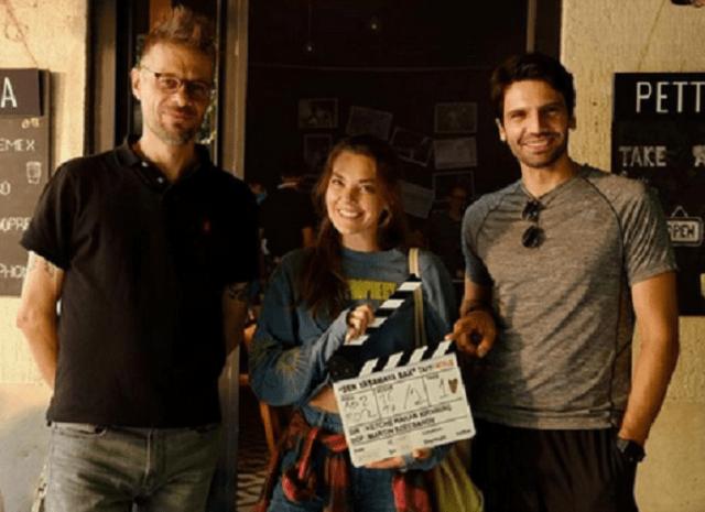Hakan Kırvavaç, Aslı Enver și Kaan Urgancıoğlu pe platoul de filmare la Sen Yaşamaya Bak