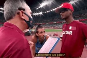 Doi atleţi împart medalia de aur la Jocurile Olimpice (VIDEO)