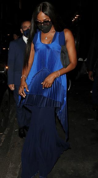 Naomi Campbell la London Fashion Week 2021