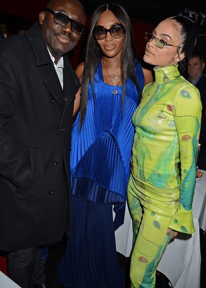 Naomi Campbell, Kehlani și Edward Enninful la London Fashion Week 2021