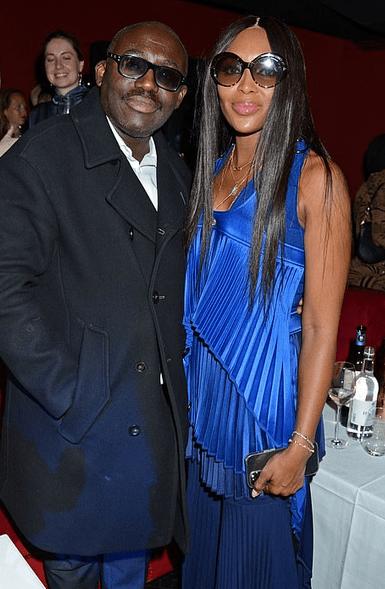 Naomi Campbell și Edward Enninful la London Fashion Week 2021