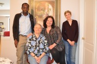 Limosanese speakers Giovannina and Maria Romolo, seated, with ELAT's Aggrey Wasike and Anastasia Riehl