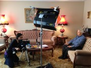 Monica Mak filming Cellese speaker Arcangelo Martino. February 14, 2014.