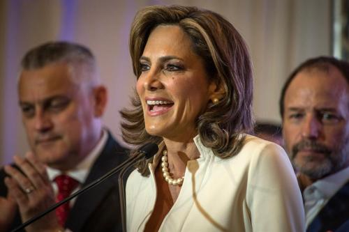María Elvira Salazar: «No vamos a dejar de estar en la calle hasta que Biden responda»