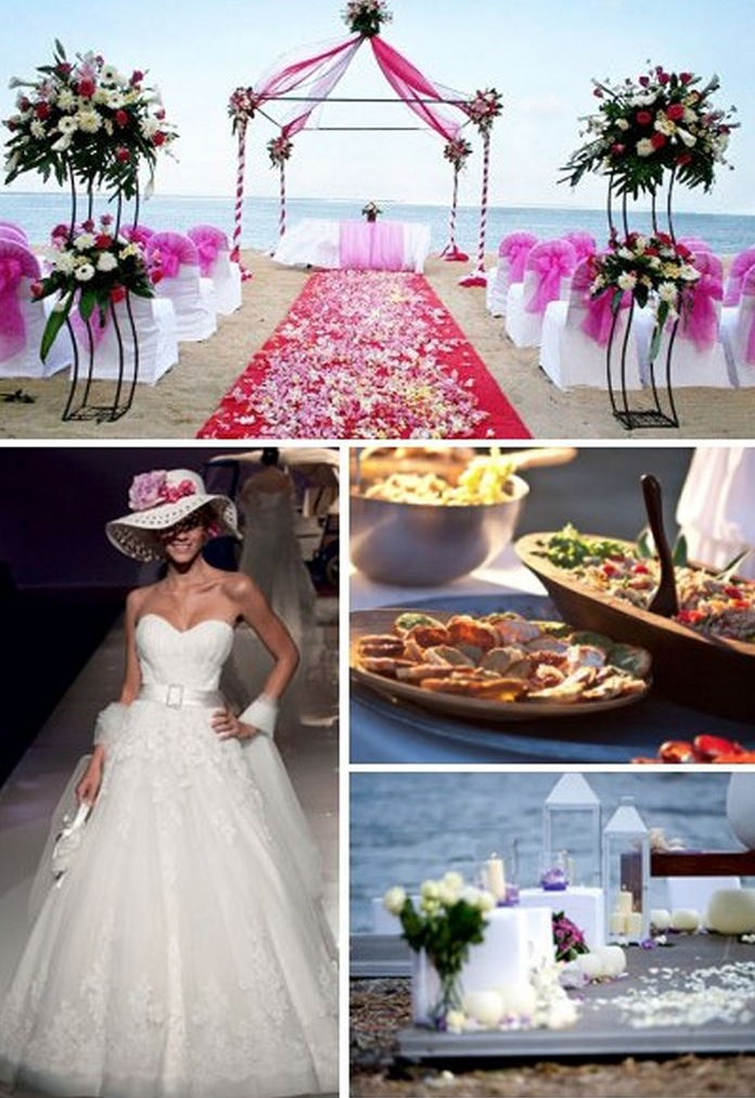 Sweet Pink Beach Wedding Ideas Wedding Destination