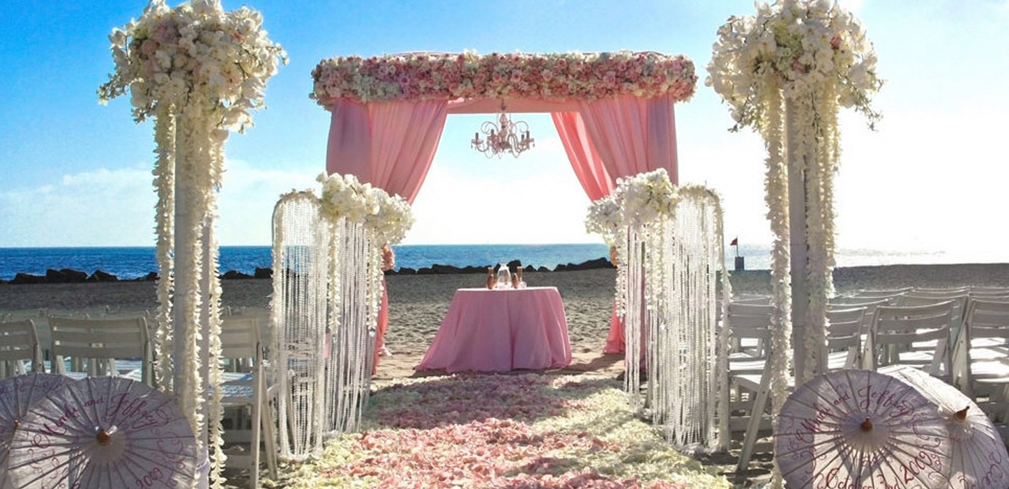 Sweet Pink Beach Wedding Ideas!