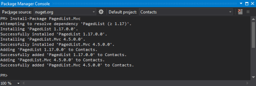 PackageManager-PagedListMvc