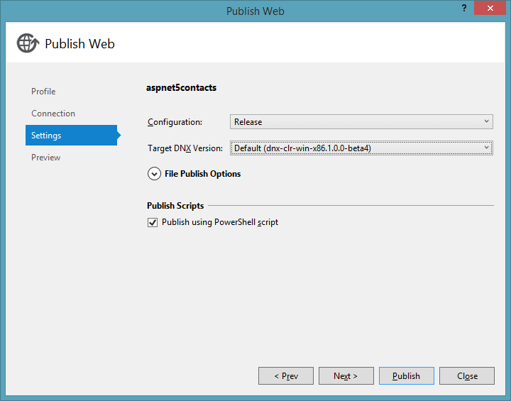 PublishDialogSettings