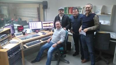 Antonio Glez. Machín, Jesús Sánchez, José Ángel Sainz y Fran en RTVE