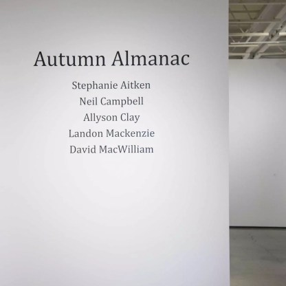 Autumn Almanac Installation View 20