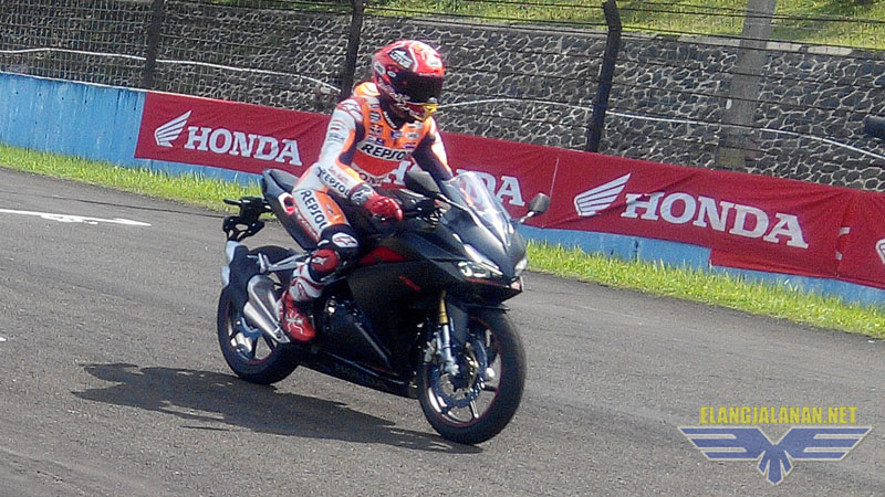 Marquez jajal CBR250RR Sentul