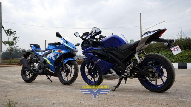 Komparasi fisik All New R15 V3 vs Suzuki GSX-R150