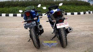 Komparasi fisik All New R15 V3 vs Suzuki GSX-R150