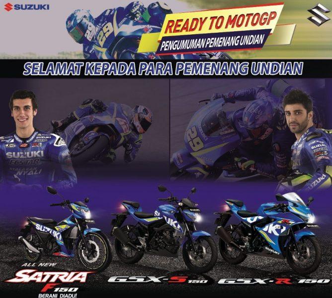 Ini Daftar Pemenang Undian  Suzuki Ready To MotoGP 2017, siap berangkat ke Sepang!