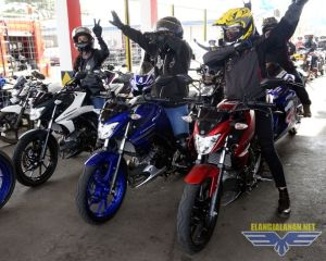 Lady Bikers Geber All New Vixion Ramaikan Victory Lap