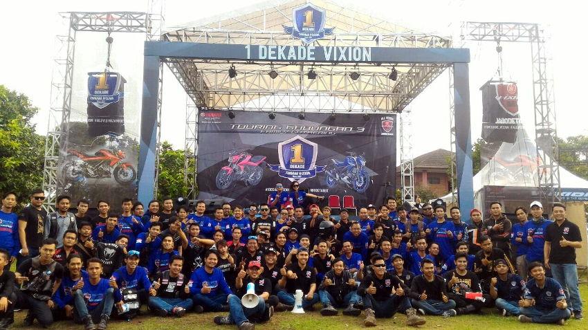 Ribuan Bikers Pecinta Vixion Meramaikan Jambore 1 Dekade Vixion Gunung Geulis Bogor