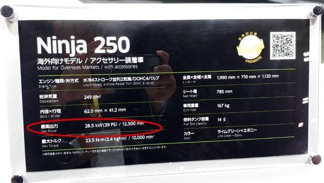 spesifikasi ninja 250r 2018