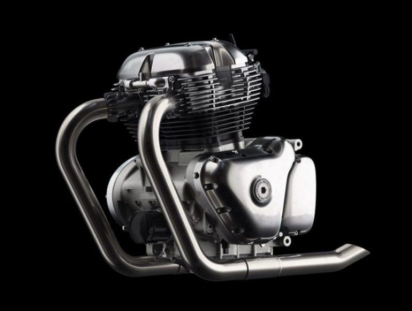 mesin inline dua silinder 650cc Royal Enfield