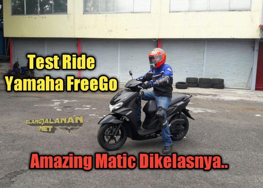 VLOG: Test Ride Yamaha FreeGo, Amazing Matic dengan Fitur Bejibun, Sensasi Velg 12″