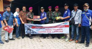 Yamaha Ulurkan Bantuan Korban Bencana Selat Sunda