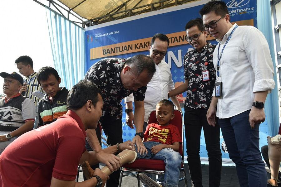 Wahana Berikan Bantuan Tangan Kaki Palsu 140 Penyandang Disabilitas