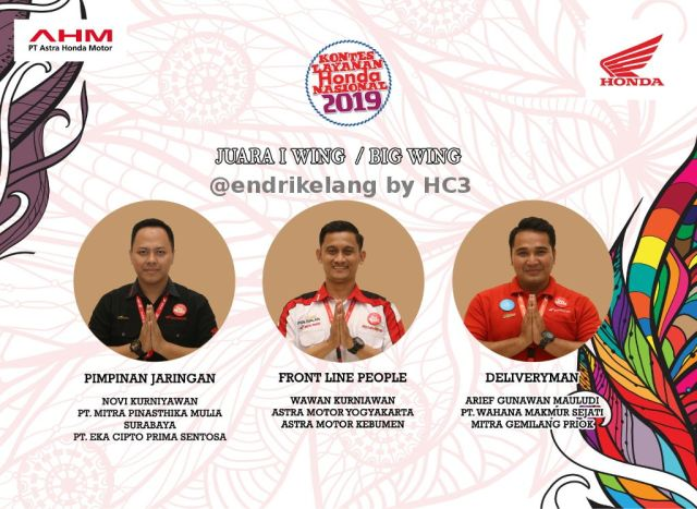 Juara I Wing Dealer KLHN 2019