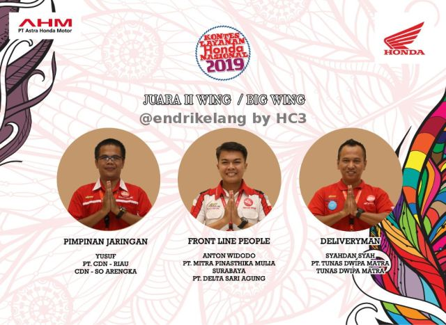 Juara II Wing Dealer KLHN 2019