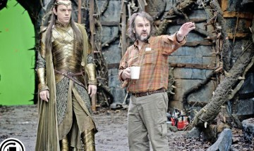 Hugo Weaving y Peter Jackson