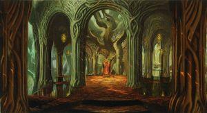 Boceto del palacio de Thranduil