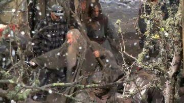 Ian McKellen lucha con los Orcos