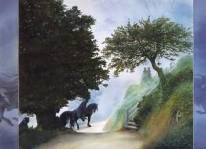 Los Nazgûl en la Comarca, según John Howe