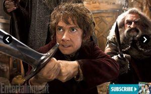 Bilbo y Óin preparados para luchar