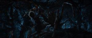 Bilbo, atacado por una araña3