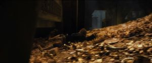 Bilbo consigue huir