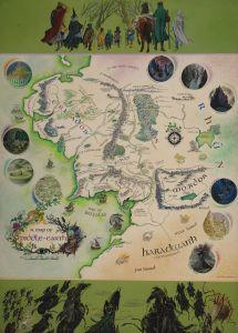 Mapa de la Tierra Media, de Pauline Baynes