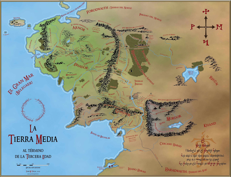 Fantasticos Mapas Revisados De La Tierra Media En Espanol Y En