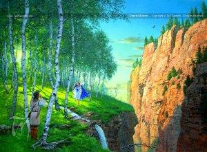 Beren y Lúthien en Ossiriand, según Ted Nasmith
