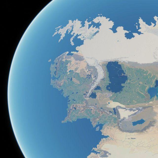 La Tierra Media vista desde el espacio – El Anillo Único