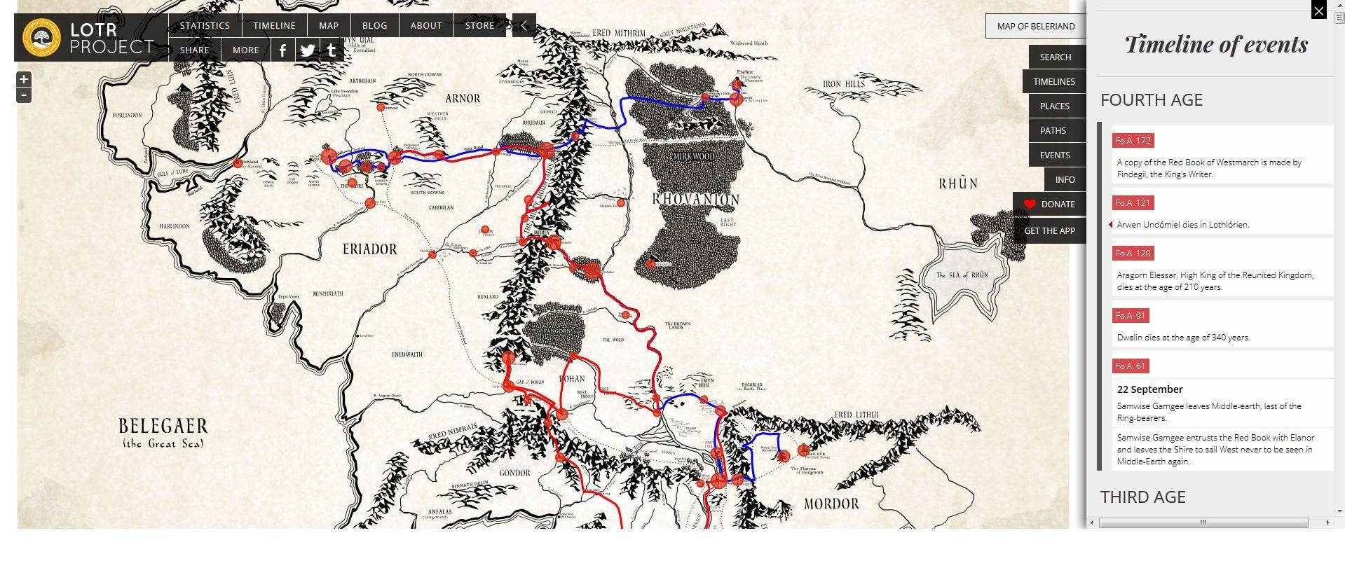 Mapas interactivos de la Tierra Media y Beleriand   El
