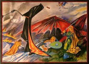 Sergei Iukhimov - Merry y Eowyn contra el Rey Brujo