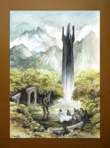 Bárbol le entrega las llaves de Orthanc al Rey Elessar, según Anna Szypszak