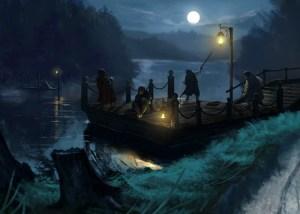 Los hobbits en la Balsadera de Gamoburgo, según Diego Gisbert Llorens