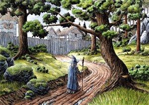 Gandalf llega a Bree, según Harri Honkala