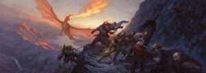 Bilbo y los enanos se refugian de la ira de Smaug, según Chris Rahn