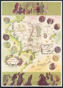 Mapa de la Tierra Media de Pauline Baynes