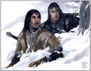 Boromir y Aragorn en el Caradhras, según Catherine Karina Chmiel-Gugulska