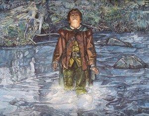 Frodo en el Nimrodel, según Stephen Graham Walsh