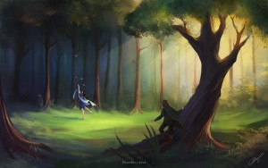 Beren encuentra a Lúthien, según Helen Kei